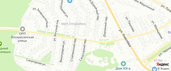 Санаторный переулок на карте Старого Оскола с номерами домов