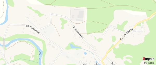 Широкая улица на карте села Каплино с номерами домов