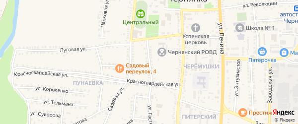 Улица Фрунзе на карте поселка Чернянка с номерами домов