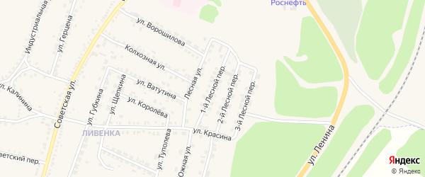 1-й Лесной переулок на карте поселка Чернянка с номерами домов