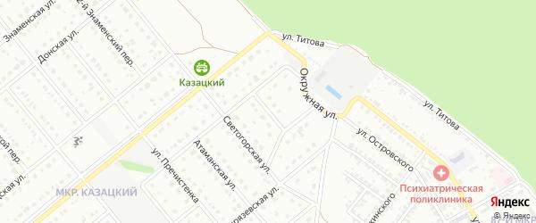 Богдановский переулок на карте Старого Оскола с номерами домов