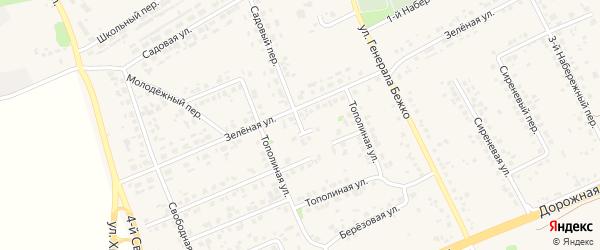 1-й Тополиный переулок на карте села Федосеевки с номерами домов