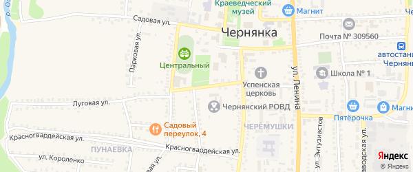Первомайский переулок на карте поселка Чернянка с номерами домов