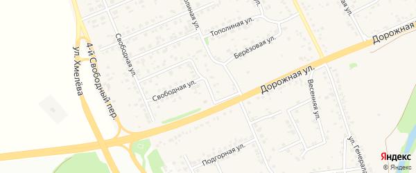 Березовый переулок на карте села Федосеевки с номерами домов