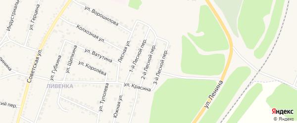 2-й Лесной переулок на карте поселка Чернянка с номерами домов