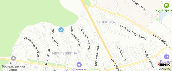2-й Дорожный переулок на карте Старого Оскола с номерами домов