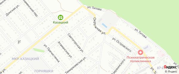 Светогорский переулок на карте Старого Оскола с номерами домов