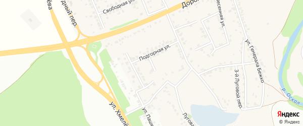 1-й Подгорный переулок на карте села Каплино с номерами домов
