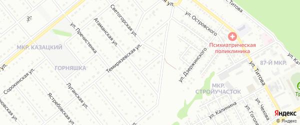 Атаманский переулок на карте Старого Оскола с номерами домов