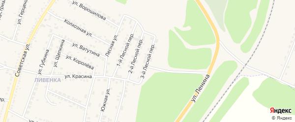 3-й Лесной переулок на карте поселка Чернянка с номерами домов