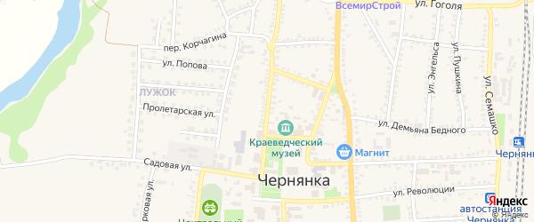 Улица 40 лет Октября на карте поселка Чернянка с номерами домов