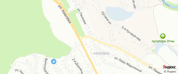 Улица Пашкова на карте Старого Оскола с номерами домов