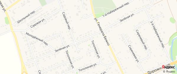 Зеленая улица на карте села Федосеевки с номерами домов