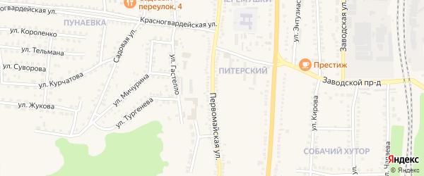 Первомайская улица на карте поселка Чернянка с номерами домов