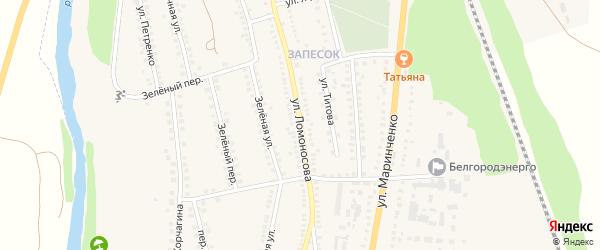 Улица Ломоносова на карте поселка Чернянка с номерами домов