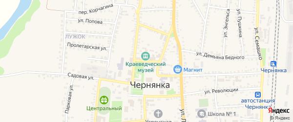 Октябрьская площадь на карте поселка Чернянка с номерами домов