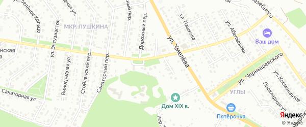Летный переулок на карте Старого Оскола с номерами домов