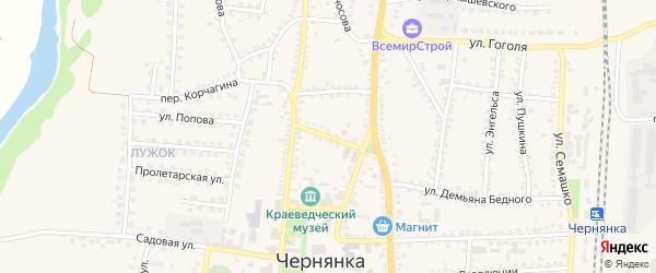Коммунальный переулок на карте поселка Чернянка с номерами домов