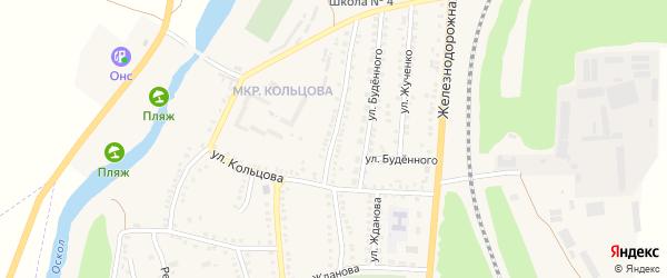 Улица Володарского на карте поселка Чернянка с номерами домов