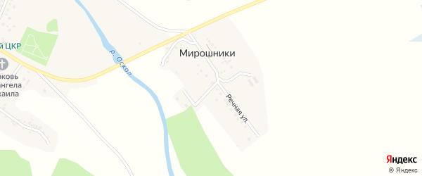 Речная улица на карте хутора Мирошники с номерами домов