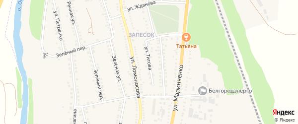 Улица Титова на карте поселка Чернянка с номерами домов