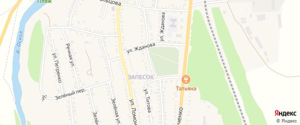 Улица Гайдара на карте поселка Чернянка с номерами домов