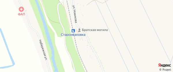 Улица Новикова на карте села Староивановки с номерами домов