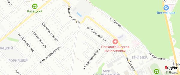 Переулок 1-й Дзержинского на карте Старого Оскола с номерами домов