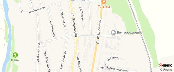 Переулок Маринченко на карте поселка Чернянка с номерами домов