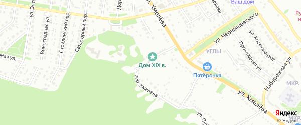 Переулок Хмелева на карте Старого Оскола с номерами домов