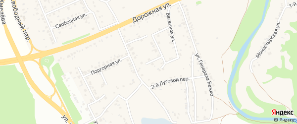 2-й Весенний переулок на карте села Каплино с номерами домов