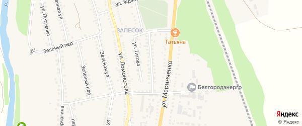 Улица Б.Хмельницкого на карте поселка Чернянка с номерами домов