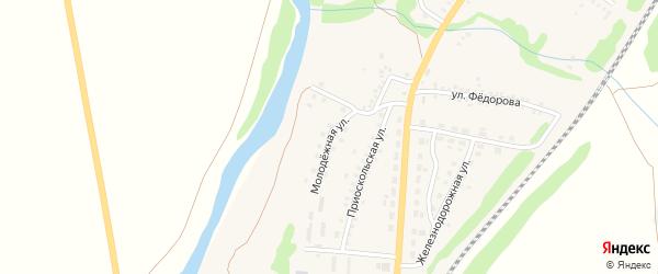 Молодежная улица на карте поселка Чернянка с номерами домов