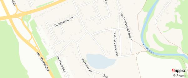 Луговая улица на карте села Каплино с номерами домов