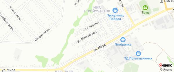 Улица Маяковского на карте Старого Оскола с номерами домов