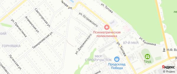 Улица Дзержинского на карте Старого Оскола с номерами домов