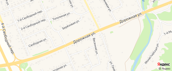 Дорожная улица на карте села Федосеевки с номерами домов