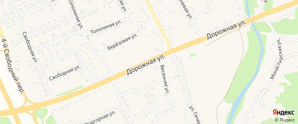 Дорожная улица на карте села Каплино с номерами домов