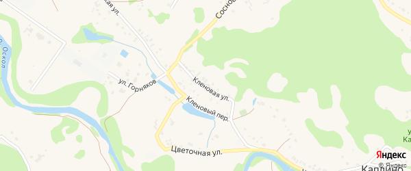 Кленовая улица на карте села Каплино с номерами домов