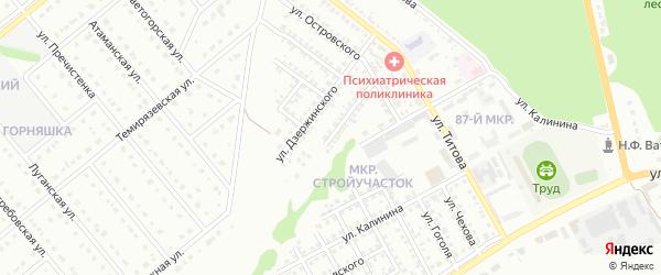 Переулок Островского на карте Старого Оскола с номерами домов