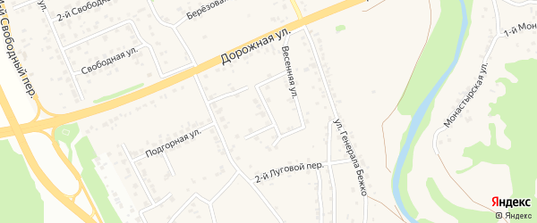 3-й Весенний переулок на карте села Каплино с номерами домов