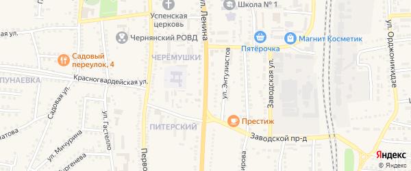 Улица Ленина на карте поселка Чернянка с номерами домов