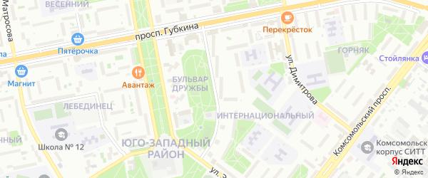 Улица Раевского на карте Старого Оскола с номерами домов