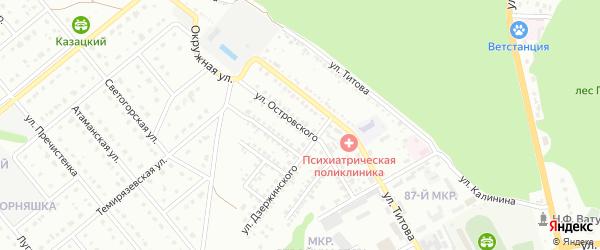 Улица Островского на карте Старого Оскола с номерами домов