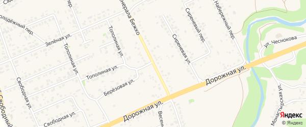 Улица Генерала Бежко на карте села Каплино с номерами домов
