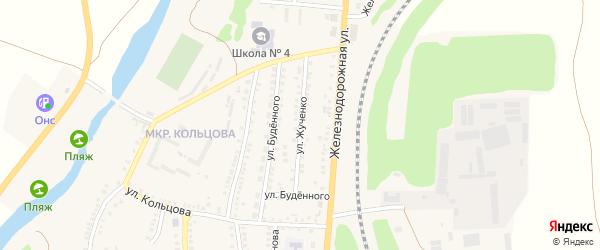 Улица Жученко на карте поселка Чернянка с номерами домов