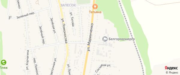Улица Маринченко на карте поселка Чернянка с номерами домов