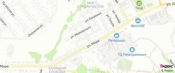 Улица Добролюбова на карте Старого Оскола с номерами домов