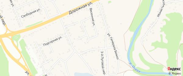 1-й Луговой переулок на карте села Каплино с номерами домов