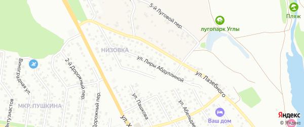 Улица Лиры Абдуллиной на карте Старого Оскола с номерами домов